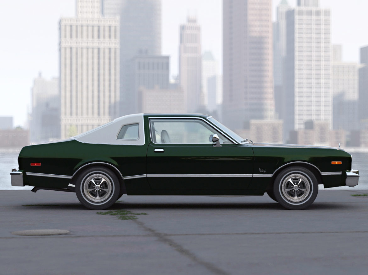plymouth volare coupe 1976 3d modell 3ds max fbx c4d obj 276508