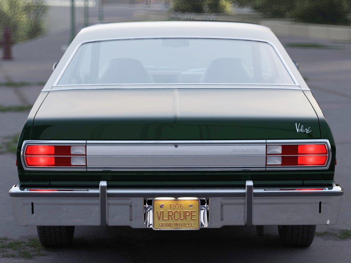 plymouth volare coupe 1976 3d modell 3ds max fbx c4d obj 276509