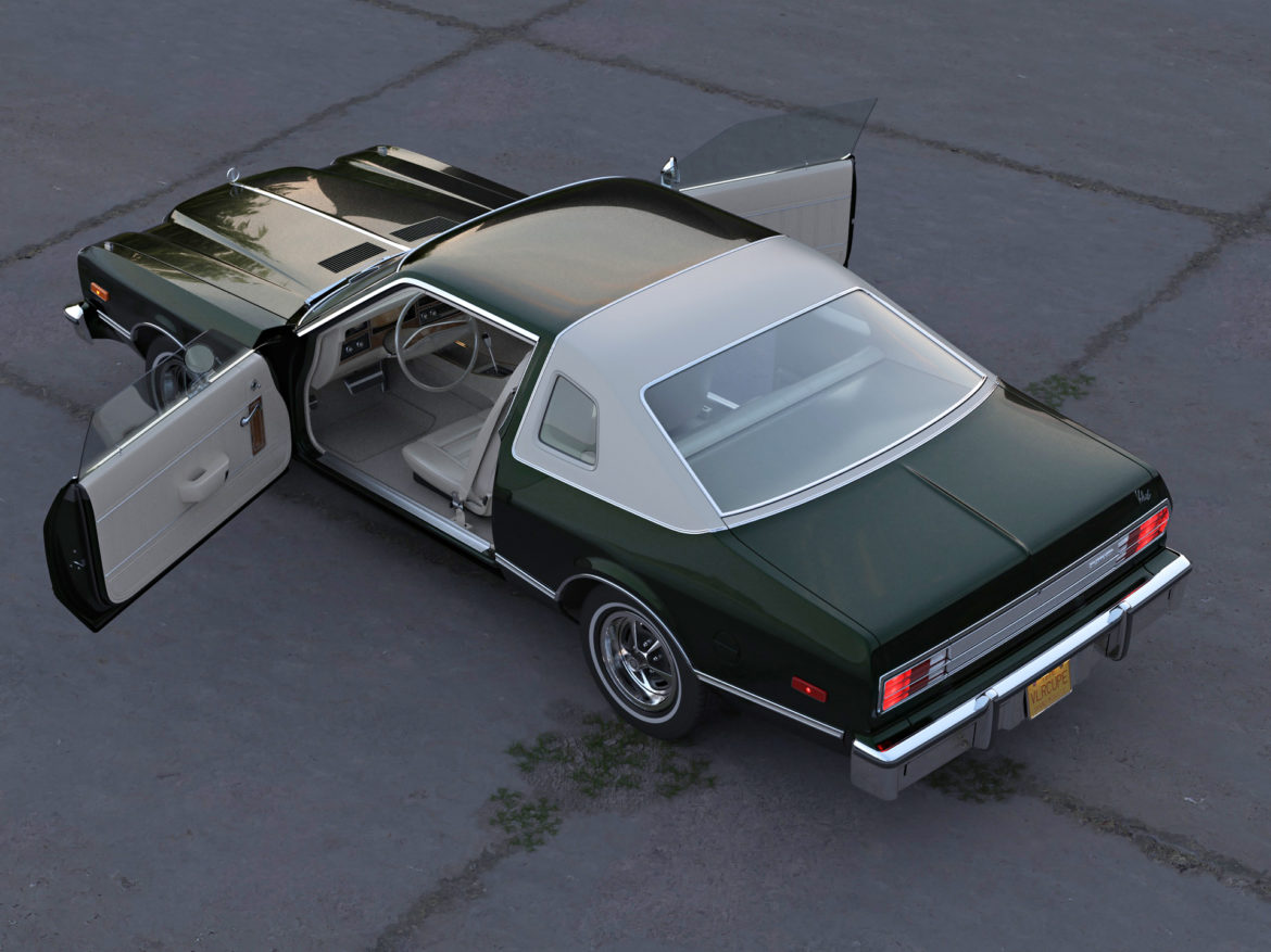 plymouth volare coupe 1976 3d modell 3ds max fbx c4d obj 276511