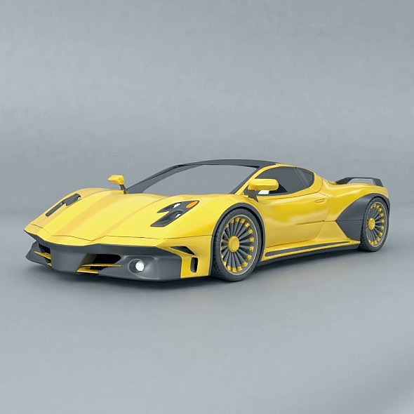 waspero supercar concept 3d model 3ds fbx blend dae obj 276518