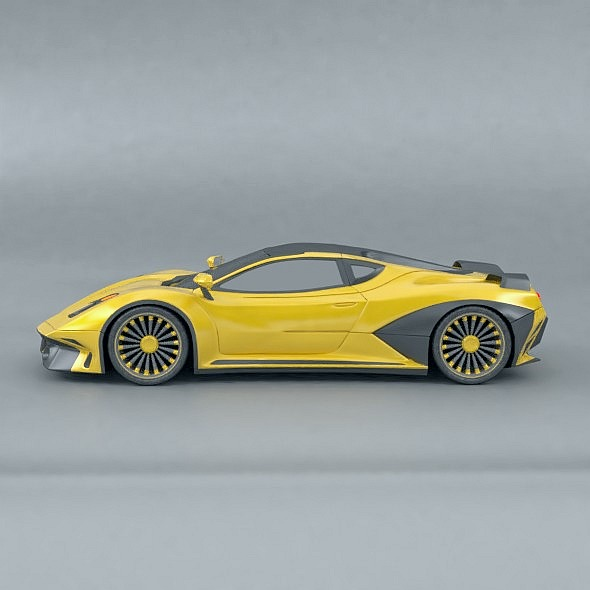waspero supercar concept 3d model 3ds fbx blend dae obj 276519