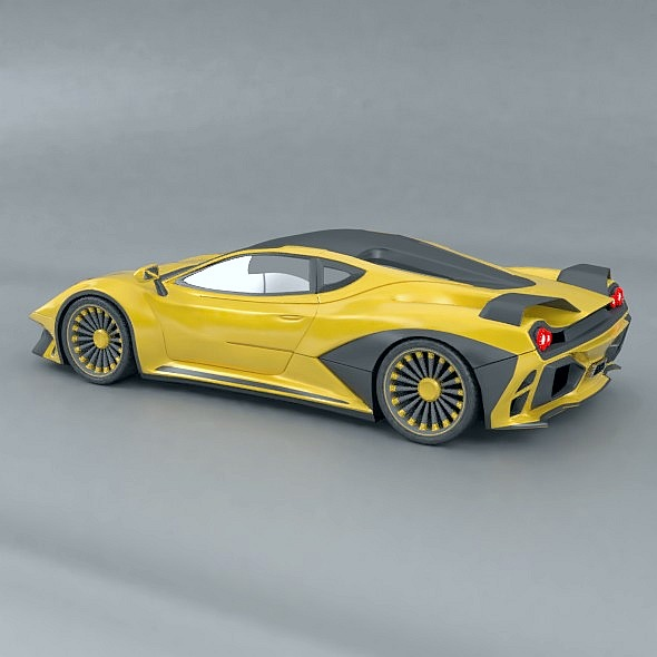 waspero supercar concept 3d model 3ds fbx blend dae obj 276520