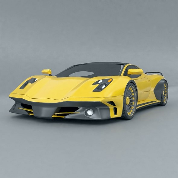 waspero supercar concept 3d model 3ds fbx blend dae obj 276522