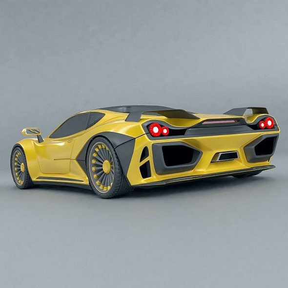 waspero supercar concept 3d model 3ds fbx blend dae obj 276523