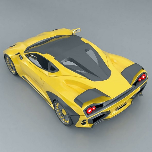 waspero supercar concept 3d model 3ds fbx blend dae obj 276524