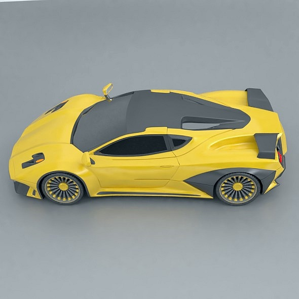 waspero supercar concept 3d model 3ds fbx blend dae obj 276525