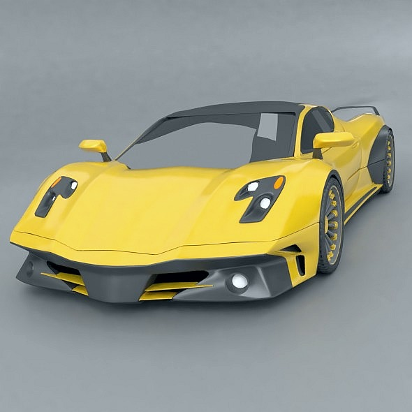 waspero supercar concept 3d model 3ds fbx blend dae obj 276526