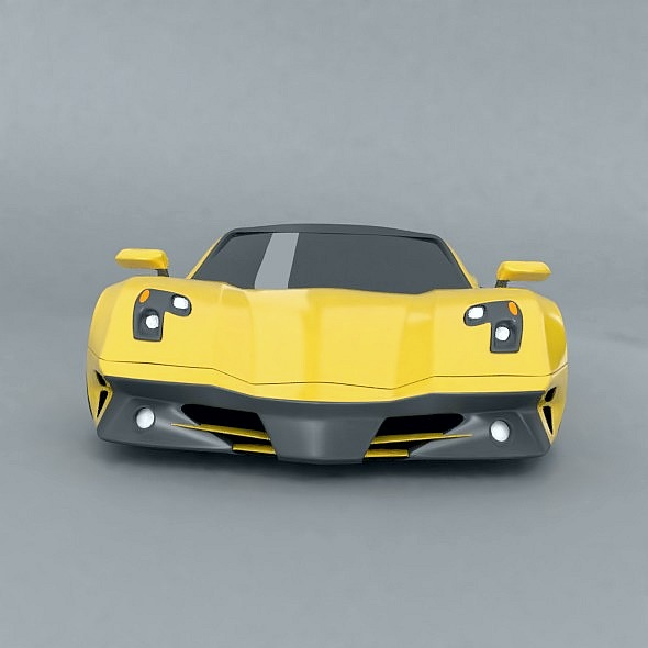 waspero supercar concept 3d model 3ds fbx blend dae obj 276527