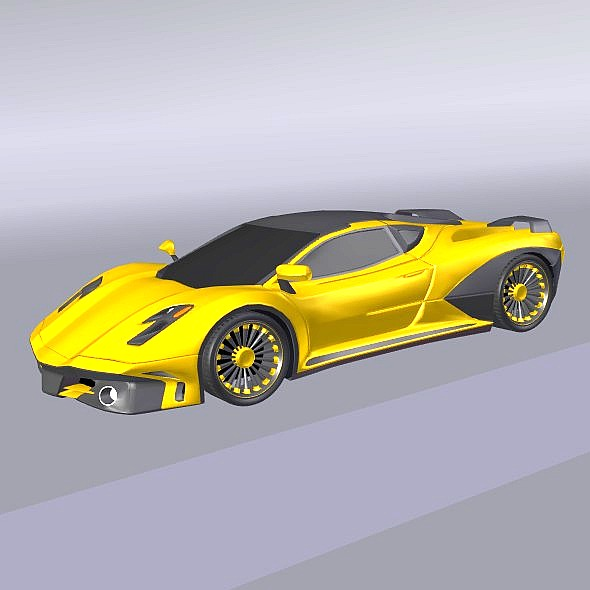 waspero supercar concept 3d model 3ds fbx blend dae obj 276528