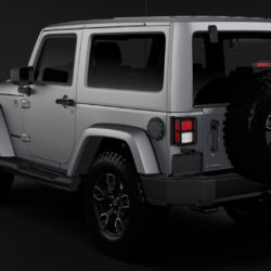 Jeep Wrangler Smoky Mountain JK 2017 3d model 0