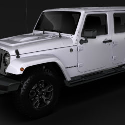 Jeep Wrangler Unlimited Smoky Mountain JK 2017 3d model 0