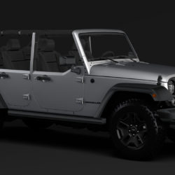 Jeep Wrangler Unlimited Willys Wheeler JK 2017 3d model 0