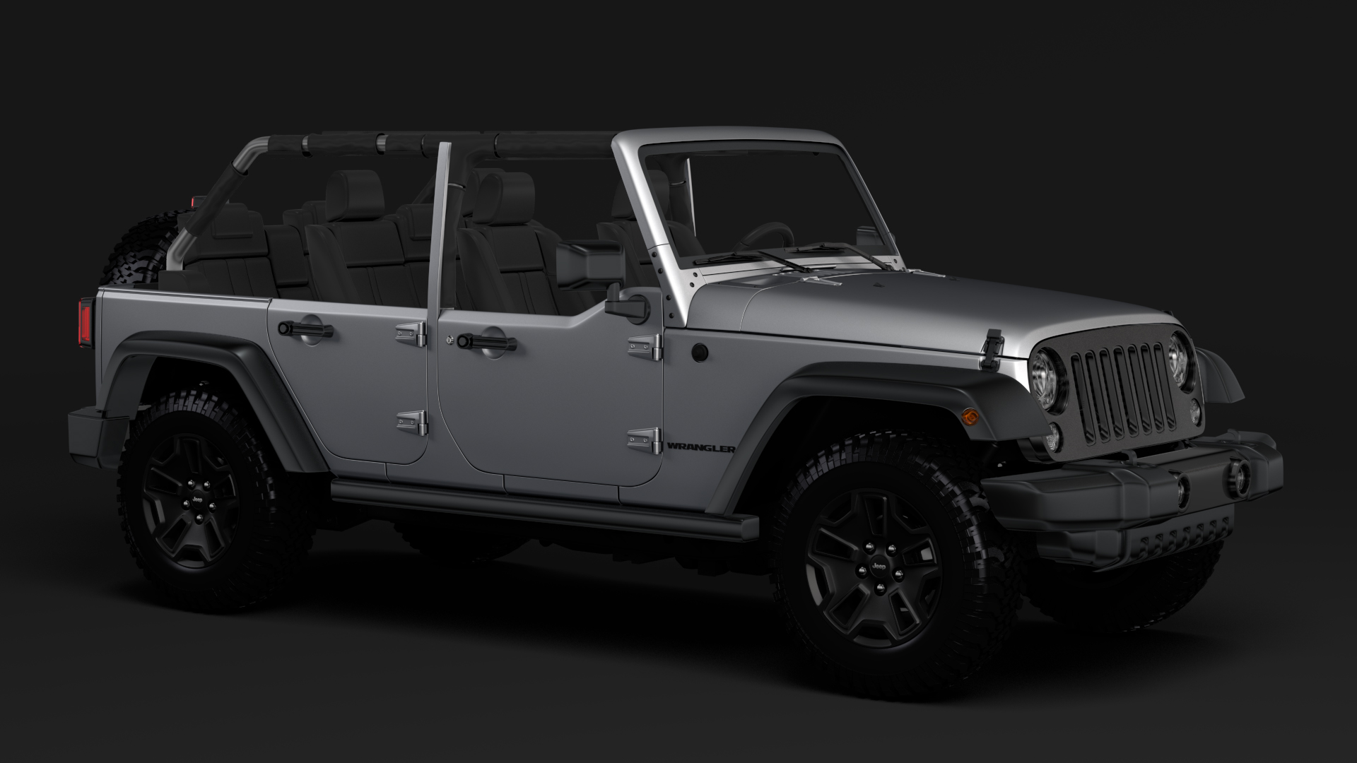 jeep wrangler unlimited willys wheeler jk 2017 3d model max fbx c4d lwo ma mb hrc xsi obj 276756