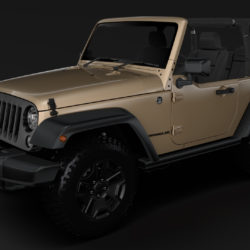 Jeep Wrangler Willys Wheeler JK 2017 3d model 0