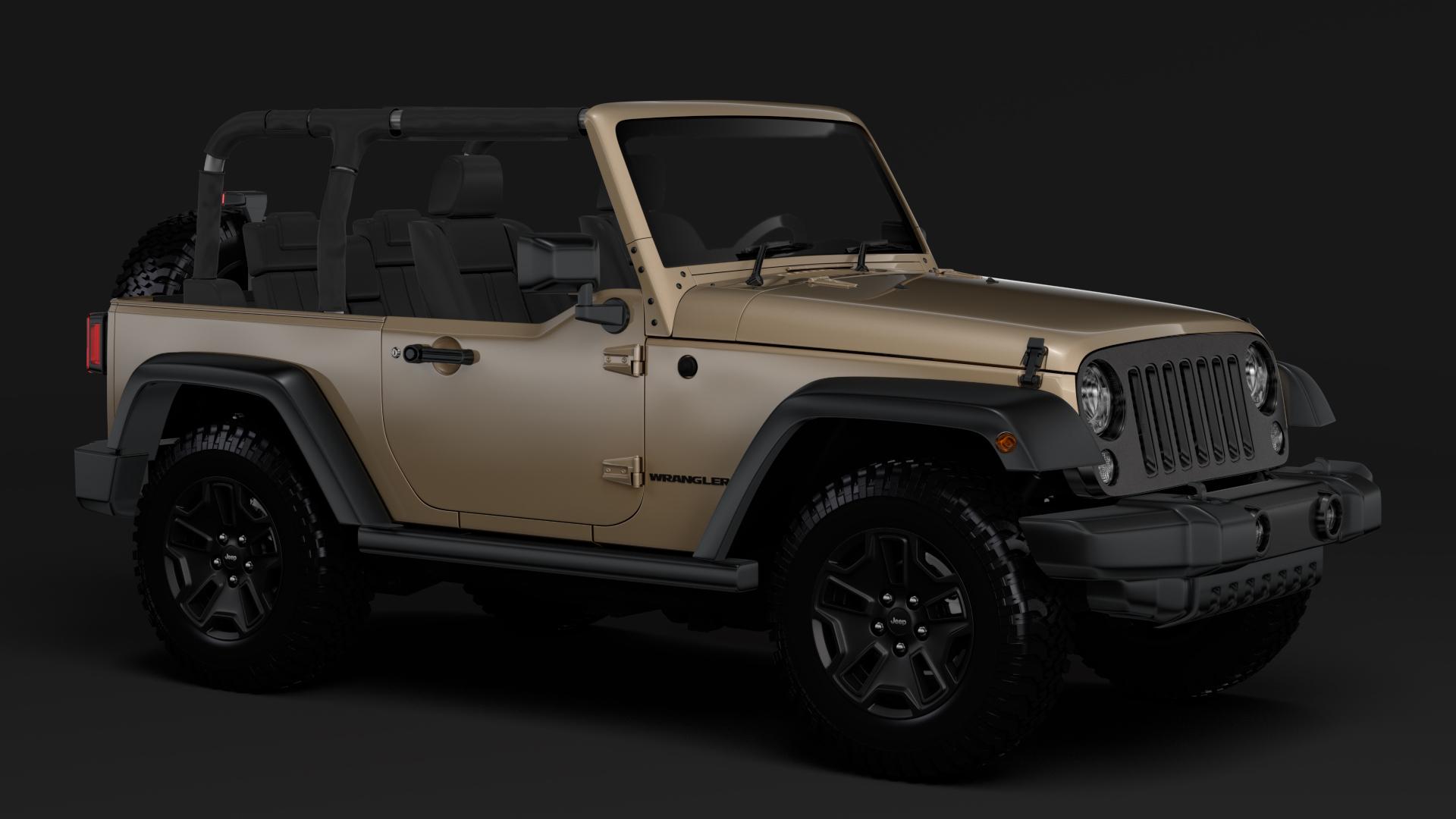 jeep wrangler willys wheeler jk 2017 3d model max fbx c4d lwo ma mb hrc xsi obj 276797