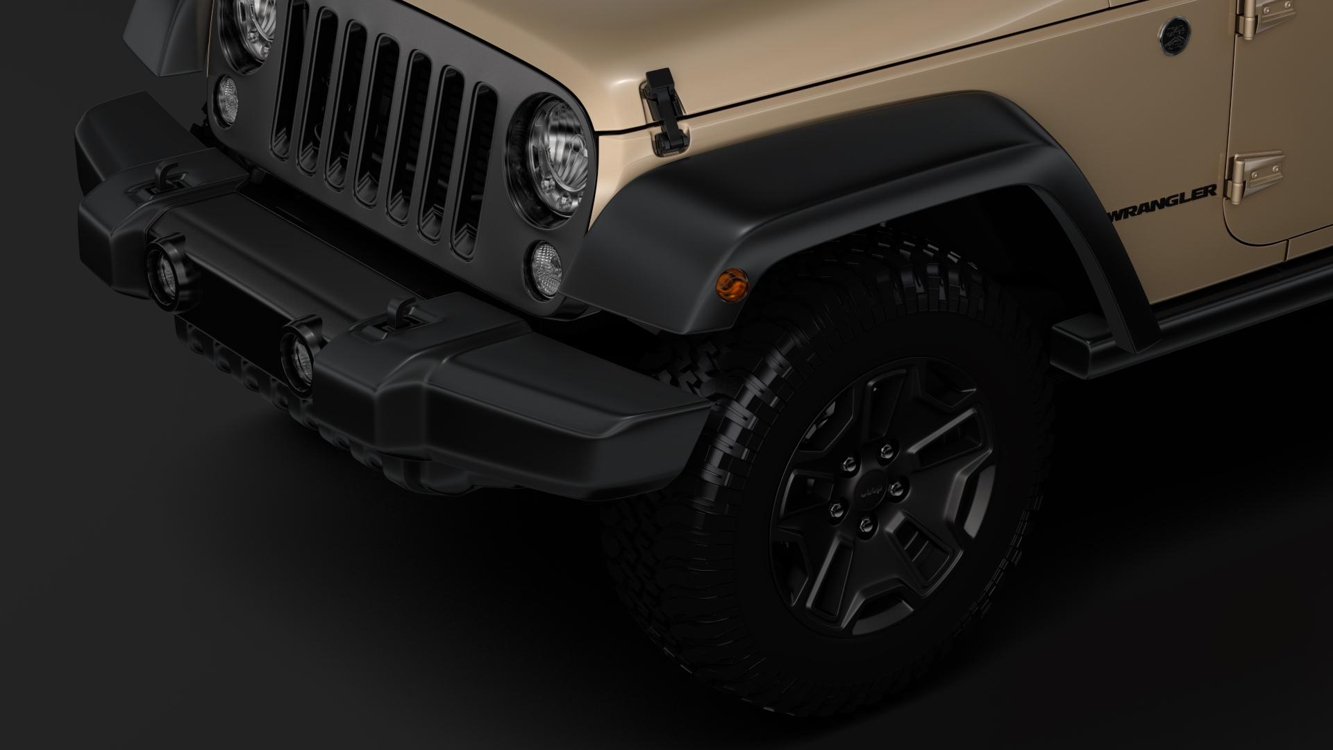 jeep wrangler willys wheeler jk 2017 3d model max fbx c4d lwo ma mb hrc xsi obj 276798