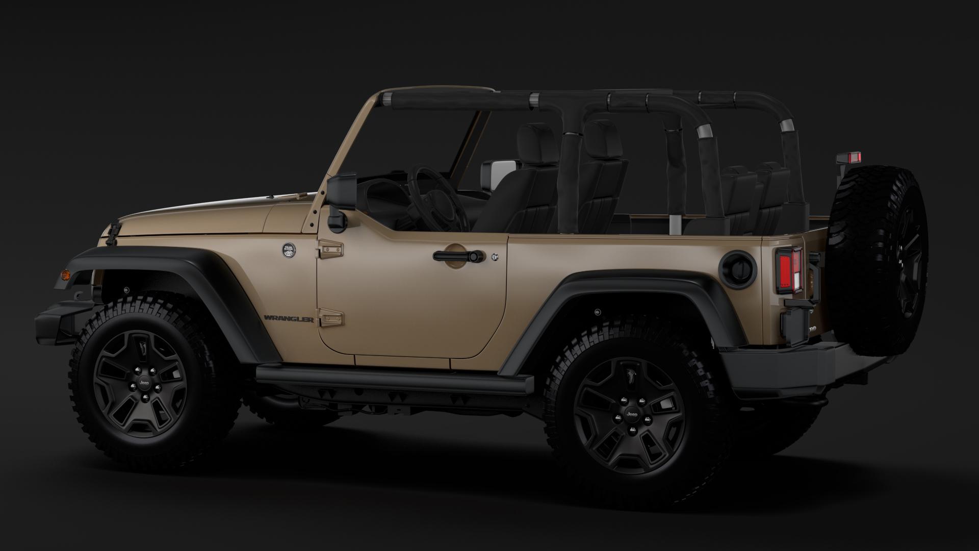 jeep wrangler willys wheeler jk 2017 3d model flatpyramid. Black Bedroom Furniture Sets. Home Design Ideas