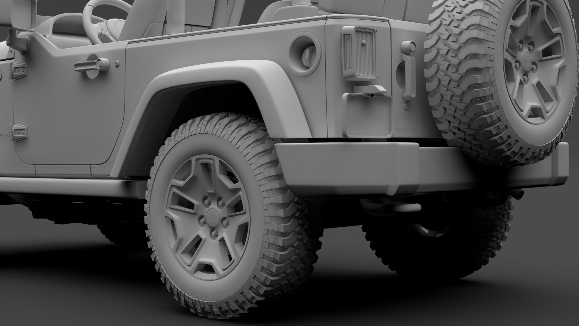 jeep wrangler willys wheeler jk 2017 3d model max fbx c4d lwo ma mb hrc xsi obj 276807