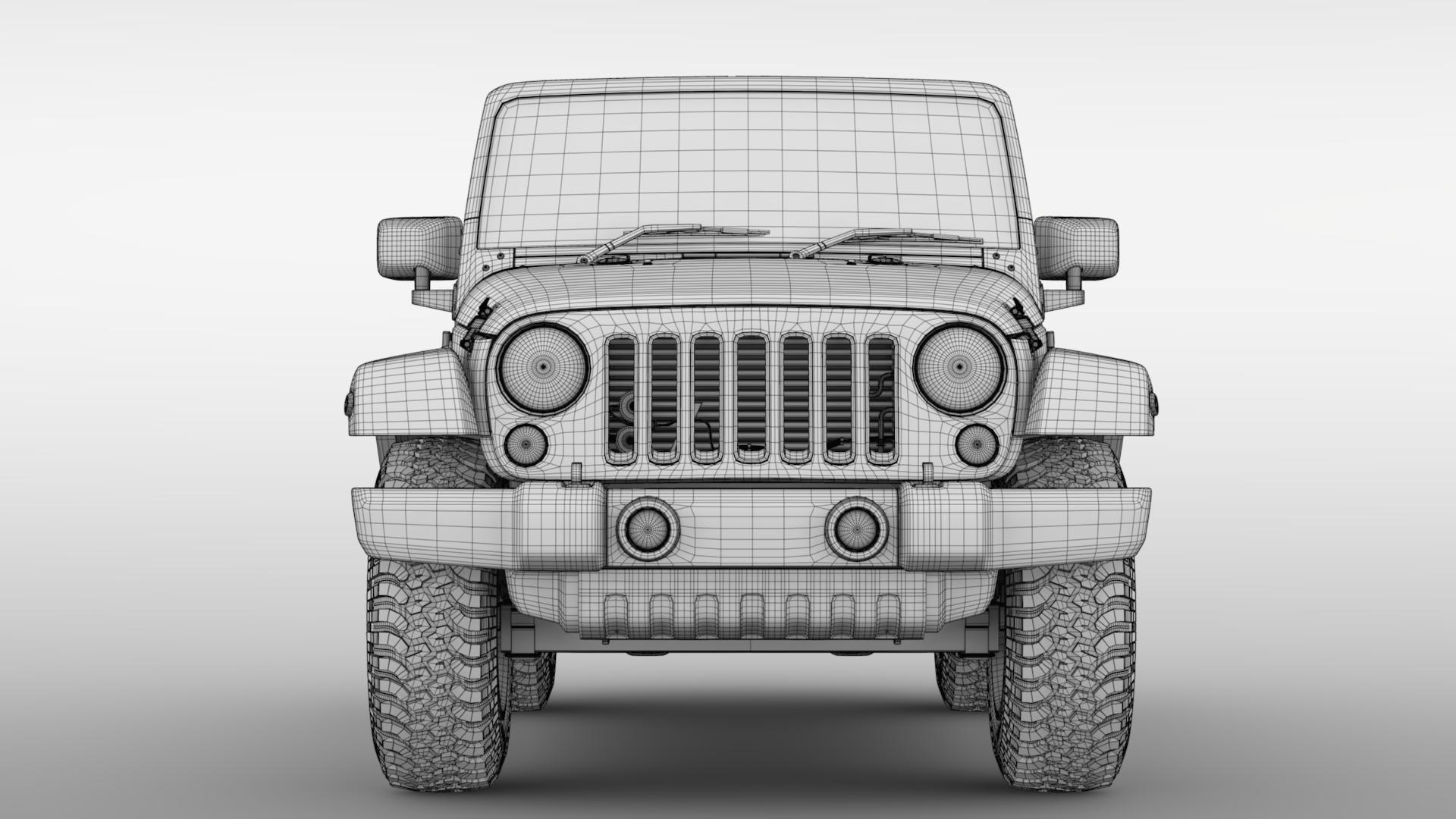 jeep wrangler willys wheeler jk 2017 3d model max fbx c4d lwo ma mb hrc xsi obj 276810