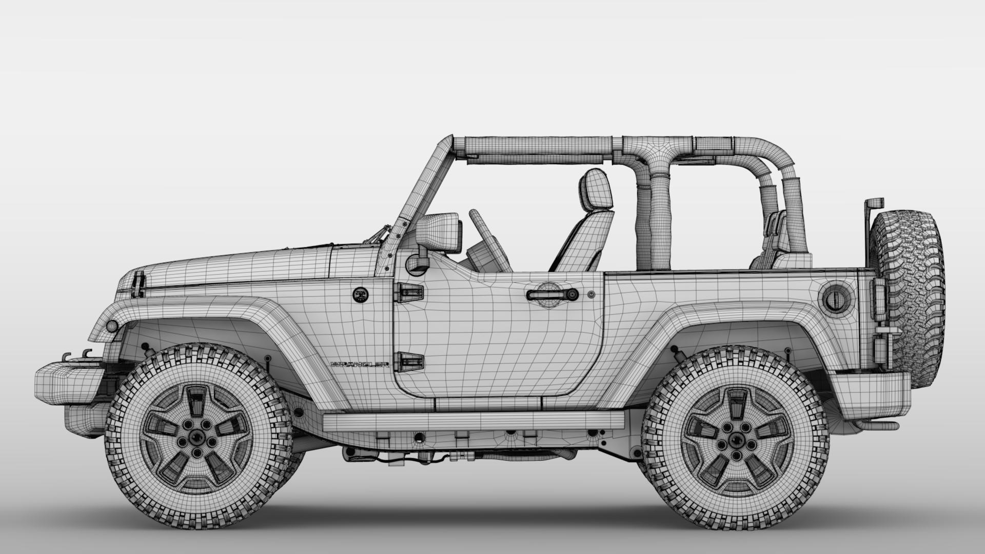 jeep wrangler willys wheeler jk 2017 3d model max fbx c4d lwo ma mb hrc xsi obj 276812