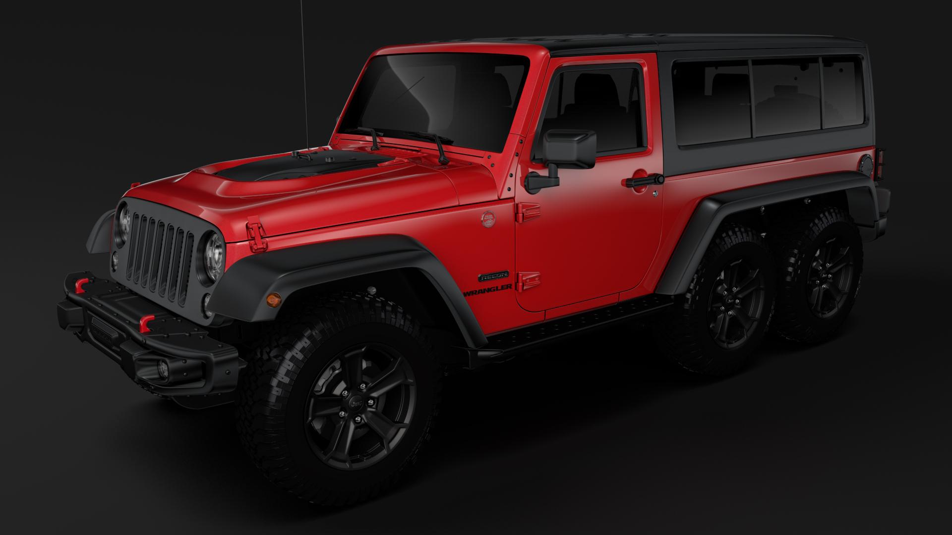 jeep wrangler 6×6 rubicon recon jk 2017 3d model max fbx c4d lwo ma mb hrc xsi obj 276842