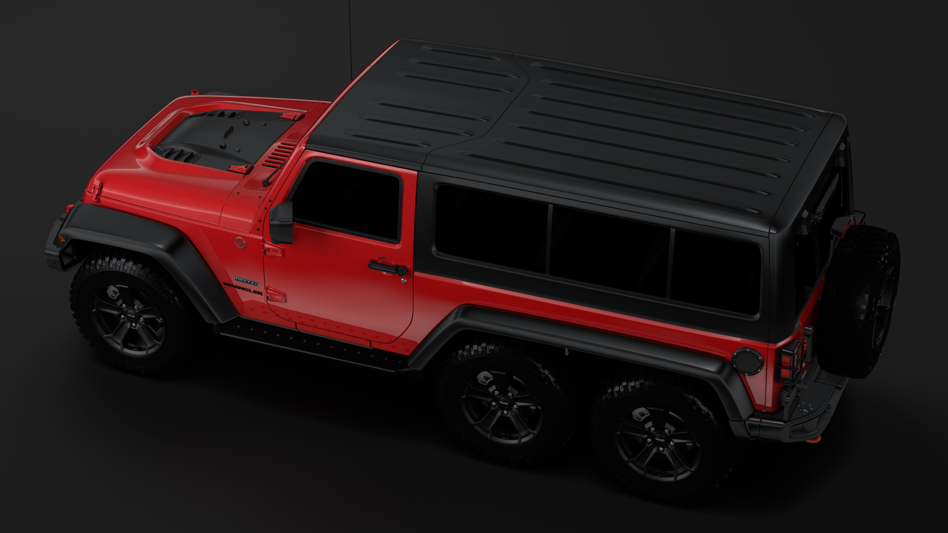 jeep wrangler 6×6 rubicon recon jk 2017 3d model max fbx c4d lwo ma mb hrc xsi obj 276851