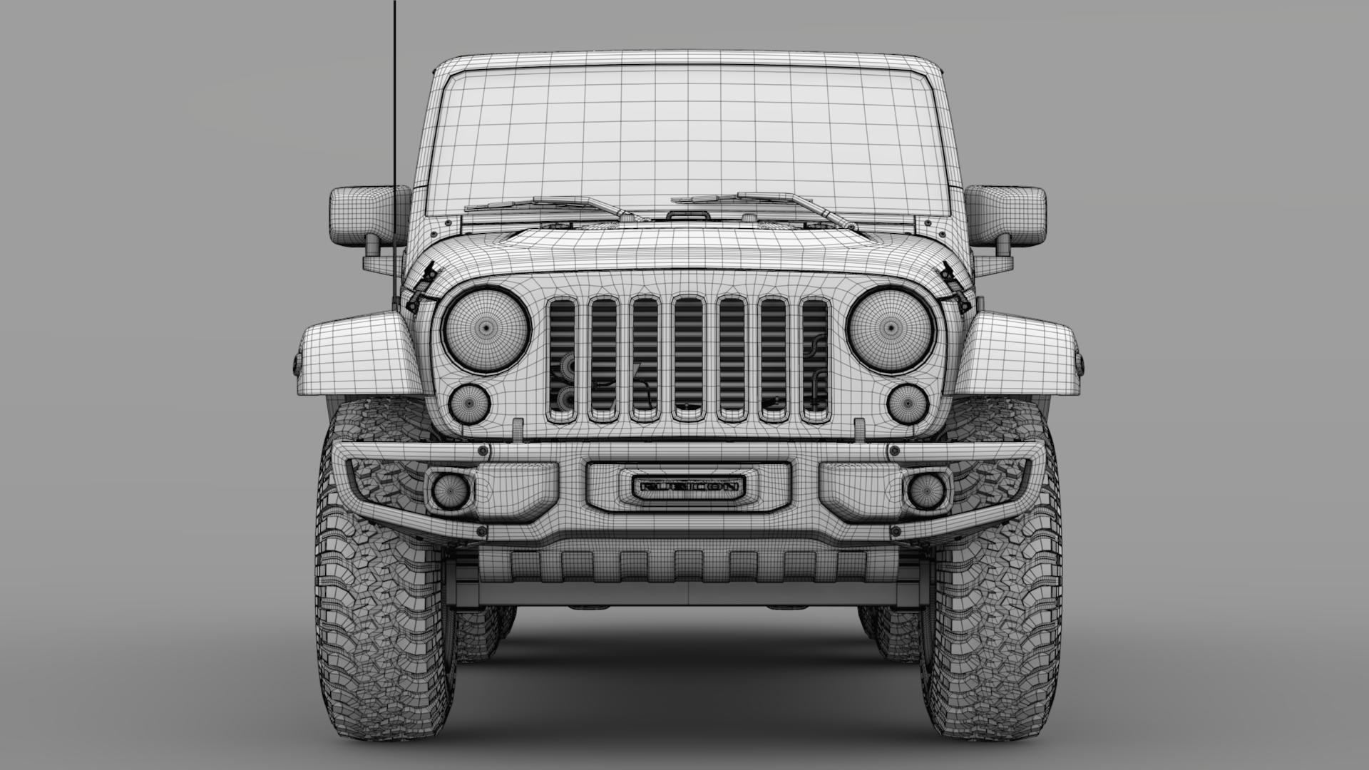 jeep wrangler 6×6 rubicon recon jk 2017 3d model max fbx c4d lwo ma mb hrc xsi obj 276852