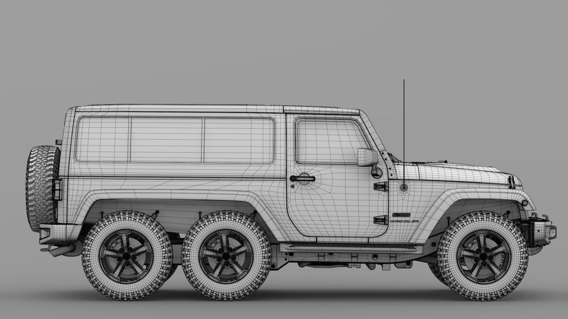 jeep wrangler 6×6 rubicon recon jk 2017 3d model max fbx c4d lwo ma mb hrc xsi obj 276853
