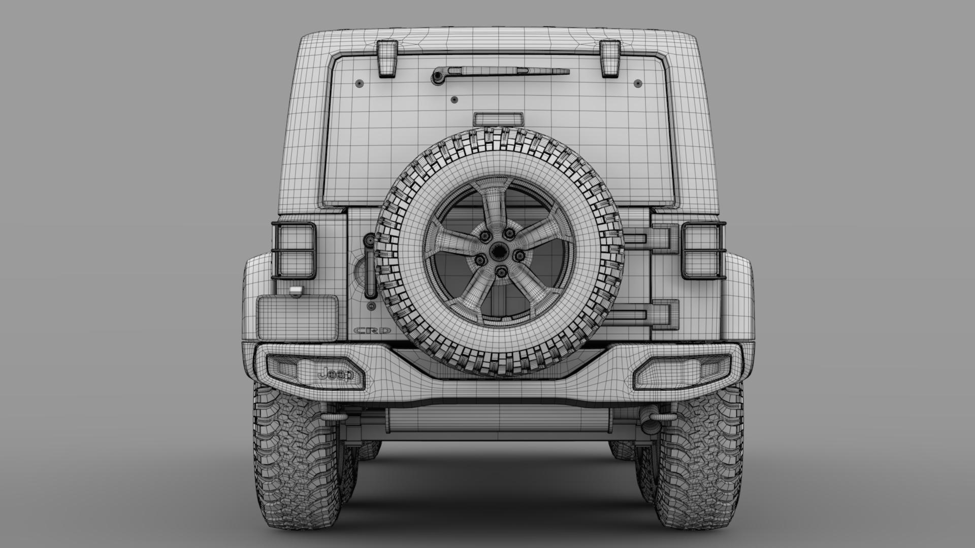 jeep wrangler 6×6 rubicon recon jk 2017 3d model max fbx c4d lwo ma mb hrc xsi obj 276854