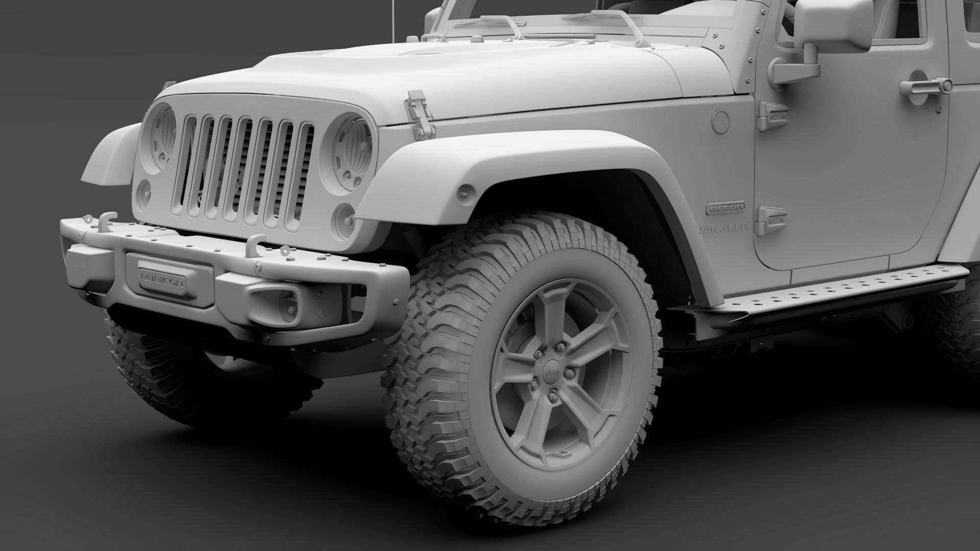 jeep wrangler 6×6 rubicon recon jk 2017 3d model max fbx c4d lwo ma mb hrc xsi obj 276857
