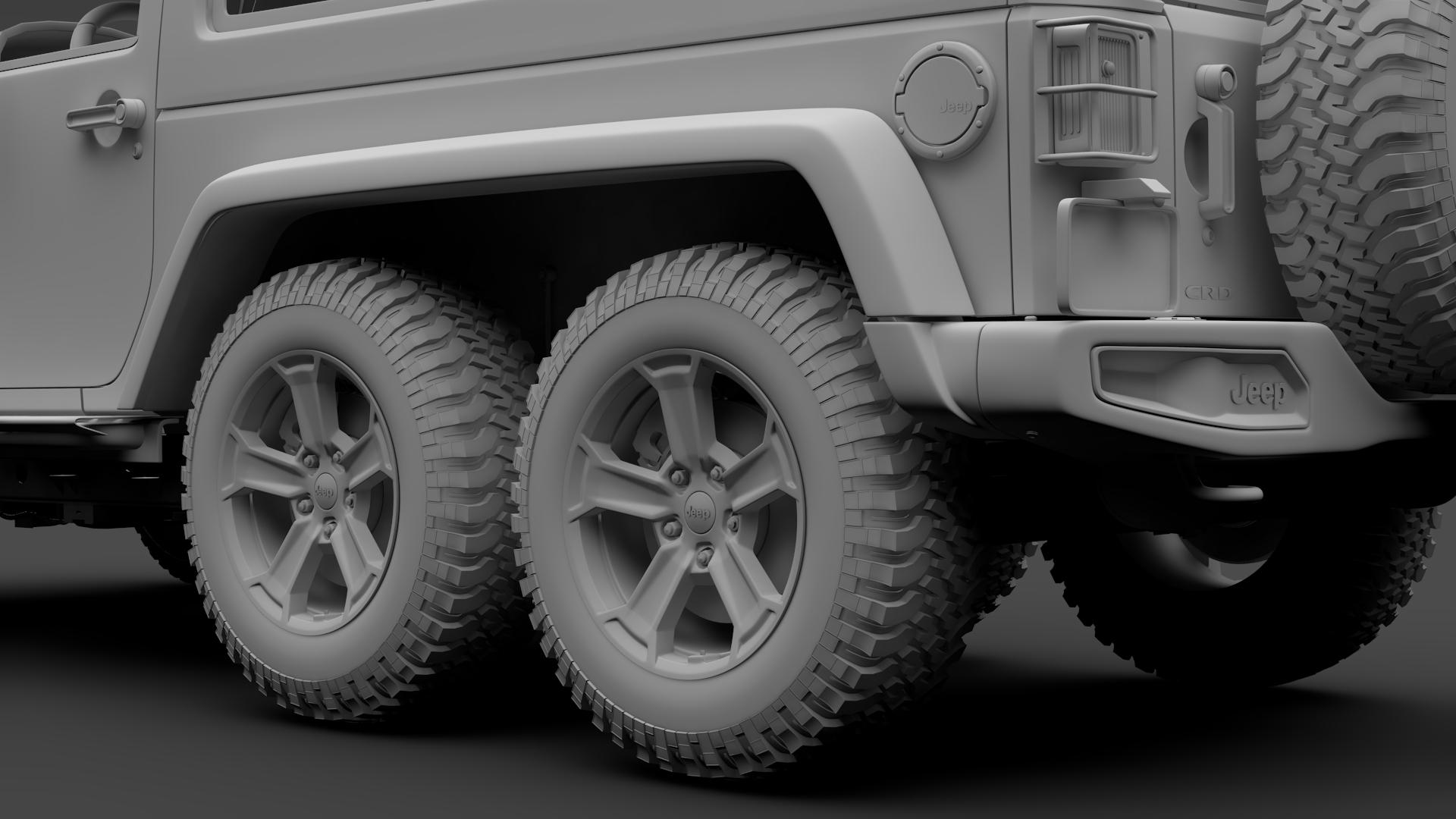 jeep wrangler 6×6 rubicon recon jk 2017 3d model max fbx c4d lwo ma mb hrc xsi obj 276860