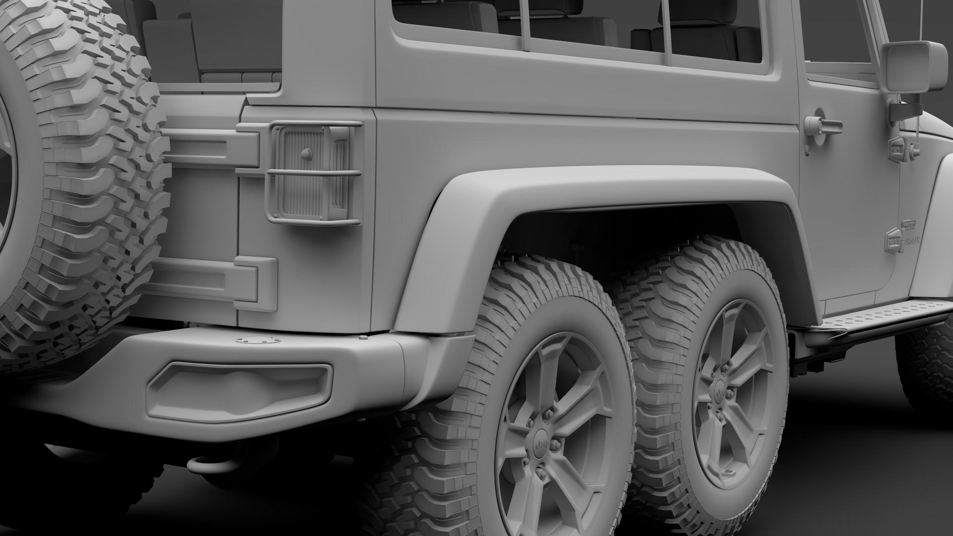 jeep wrangler 6×6 rubicon recon jk 2017 3d model max fbx c4d lwo ma mb hrc xsi obj 276861