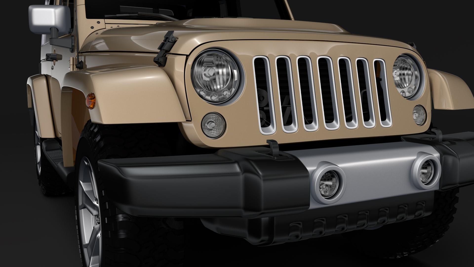 jeep wrangler chief jk 2017 3d model max fbx c4d lwo ma mb hrc xsi obj 276873