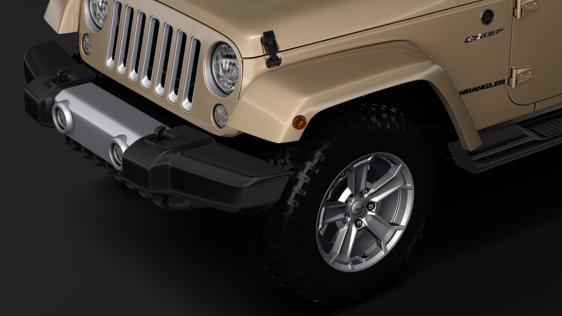 jeep wrangler chief jk 2017 3d model max fbx c4d lwo ma mb hrc xsi obj 276878