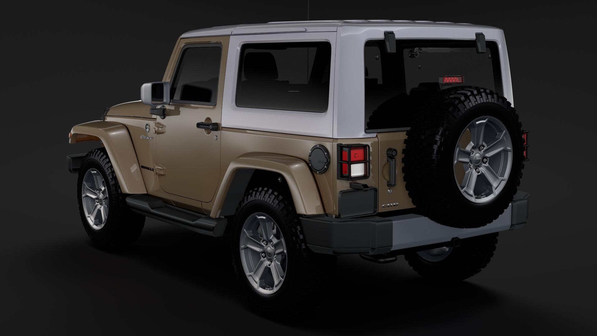 jeep wrangler chief jk 2017 3d model max fbx c4d lwo ma mb hrc xsi obj 276880