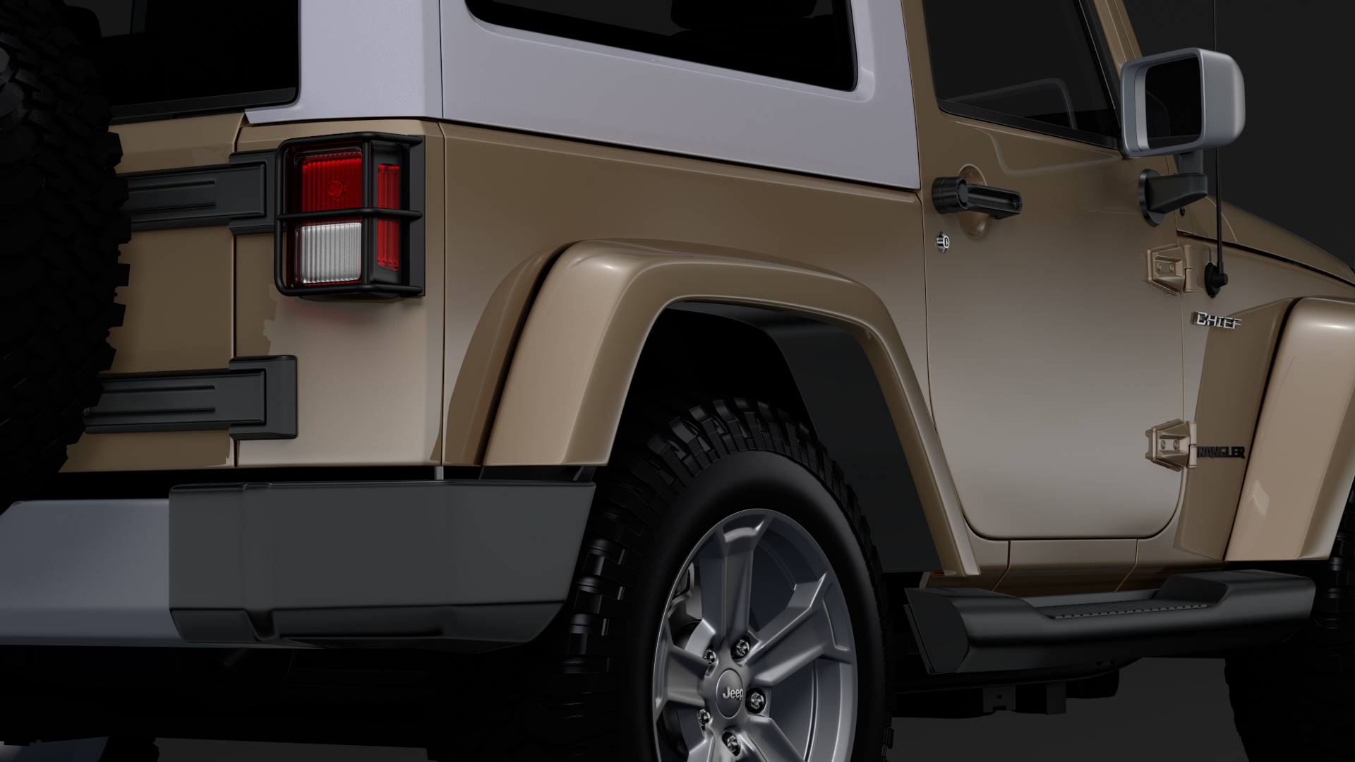 jeep wrangler chief jk 2017 3d model max fbx c4d lwo ma mb hrc xsi obj 276881