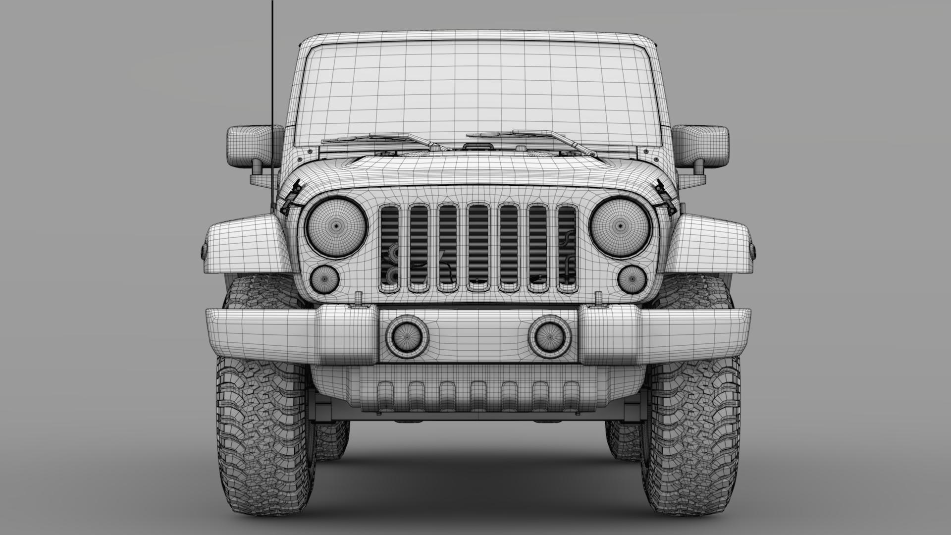 jeep wrangler chief jk 2017 3d model max fbx c4d lwo ma mb hrc xsi obj 276885