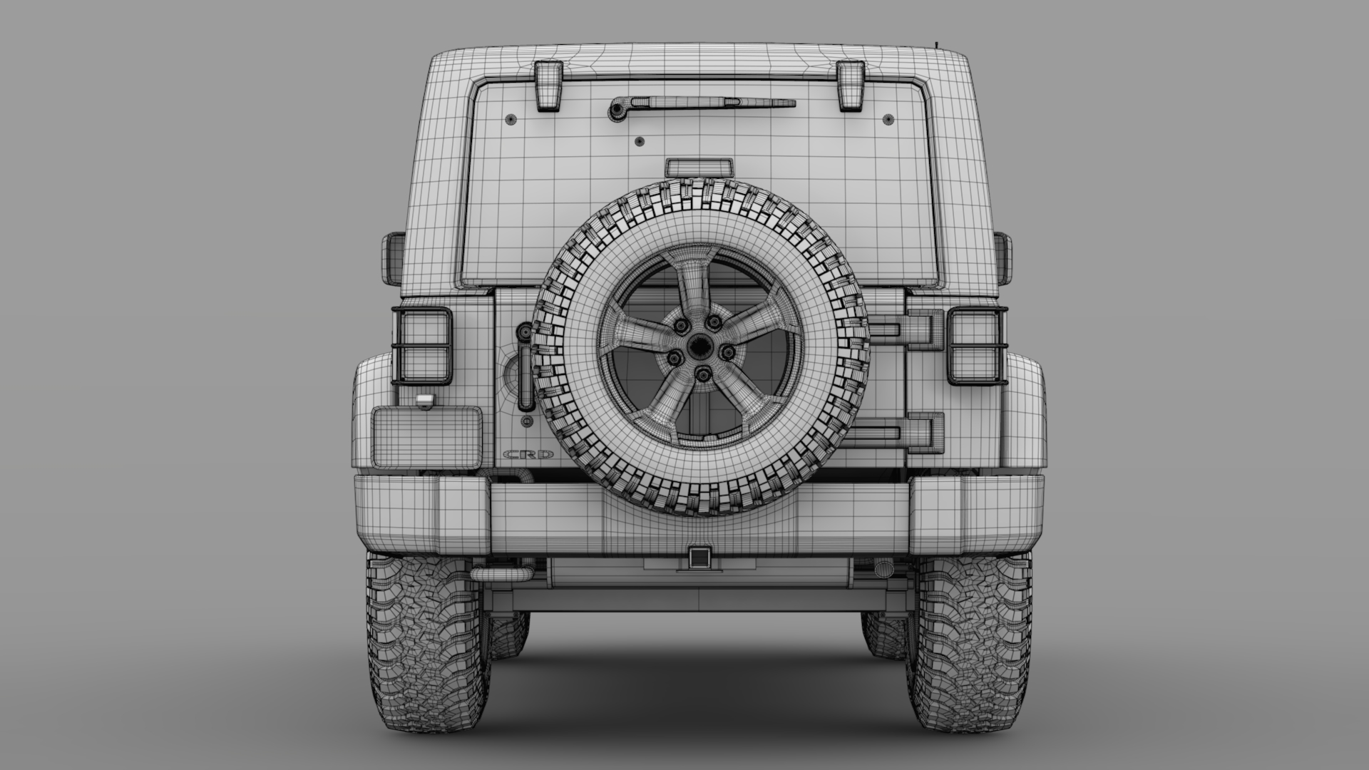 jeep wrangler chief jk 2017 3d model max fbx c4d lwo ma mb hrc xsi obj 276886