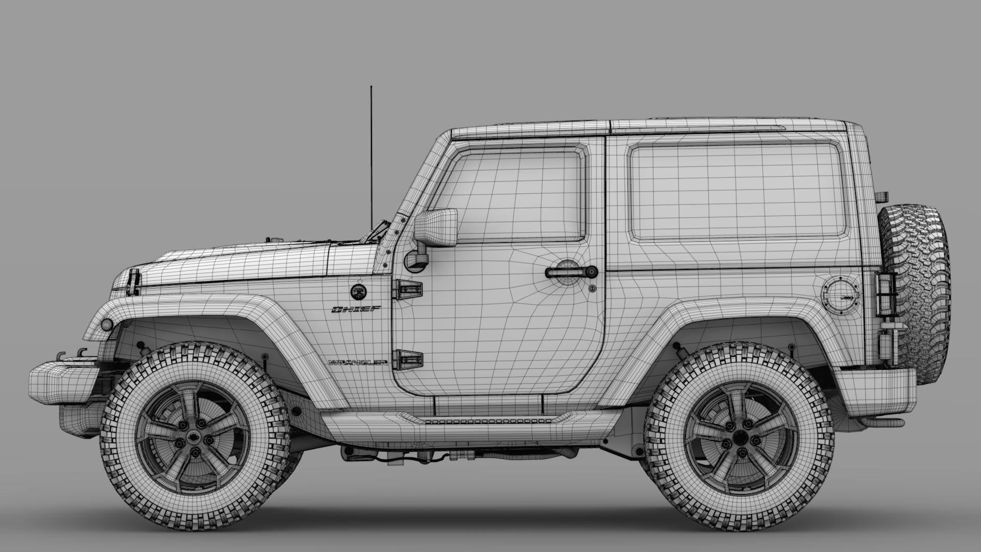 jeep wrangler chief jk 2017 3d model max fbx c4d lwo ma mb hrc xsi obj 276887