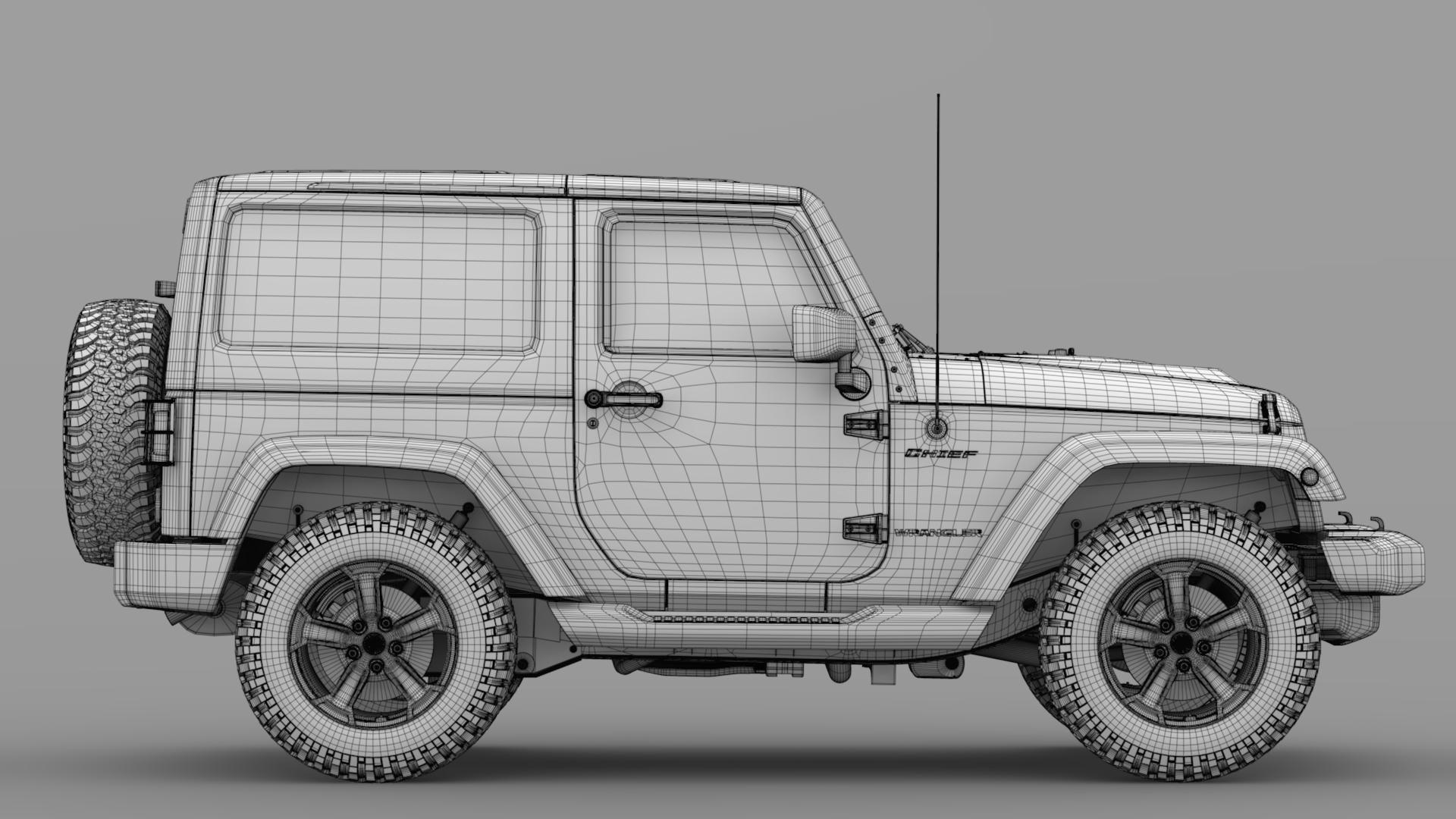 jeep wrangler chief jk 2017 3d model max fbx c4d lwo ma mb hrc xsi obj 276896