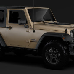 Jeep Wrangler Rubicon Recon JK 2017 3d model 0