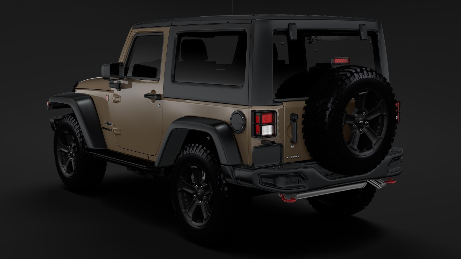 jeep wrangler rubicon recon jk 2017 3d model max fbx lwo ma mb hrc xsi obj 276947