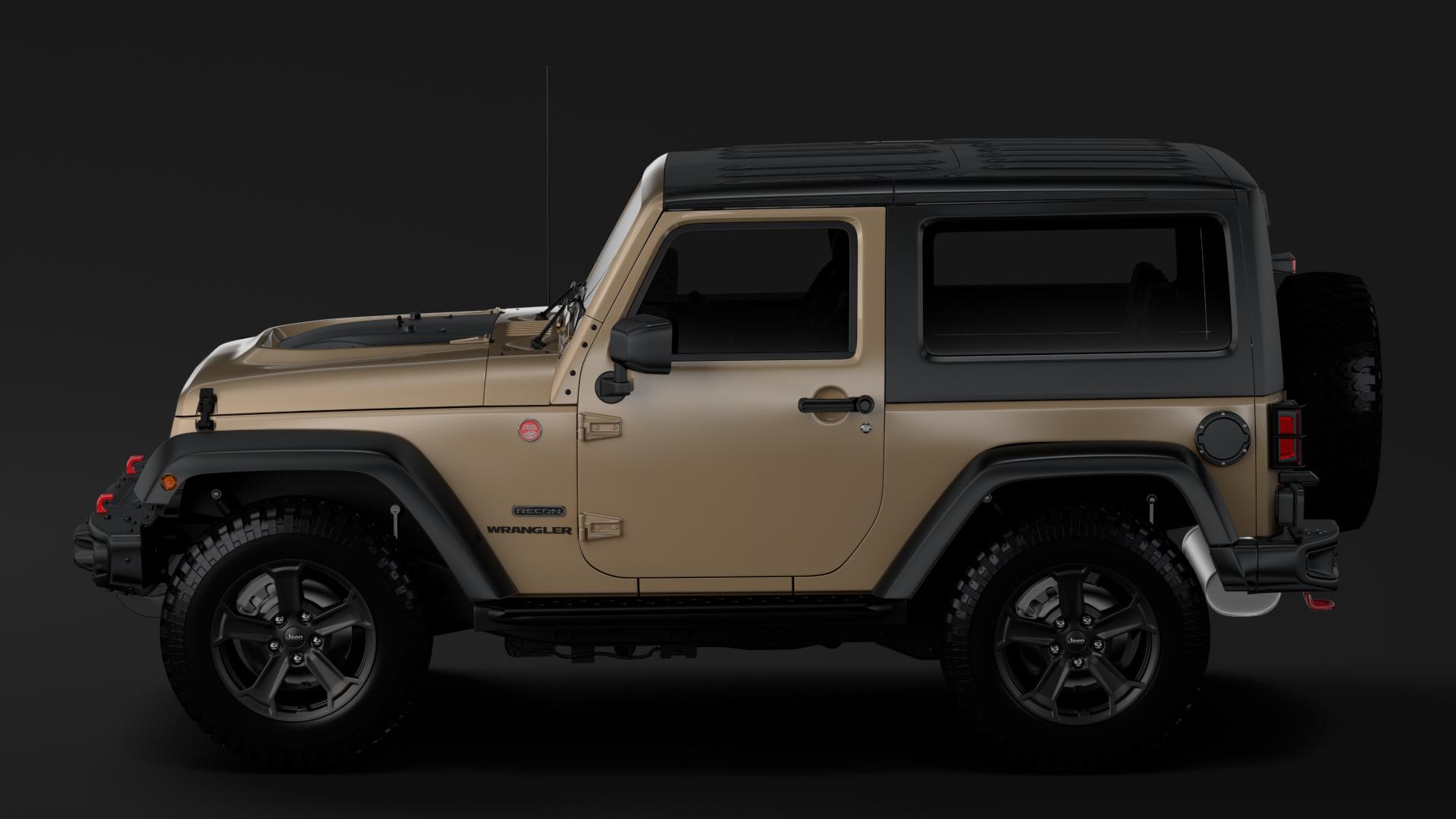 jeep wrangler rubicon recon jk 2017 3d model max fbx lwo ma mb hrc xsi obj 276949