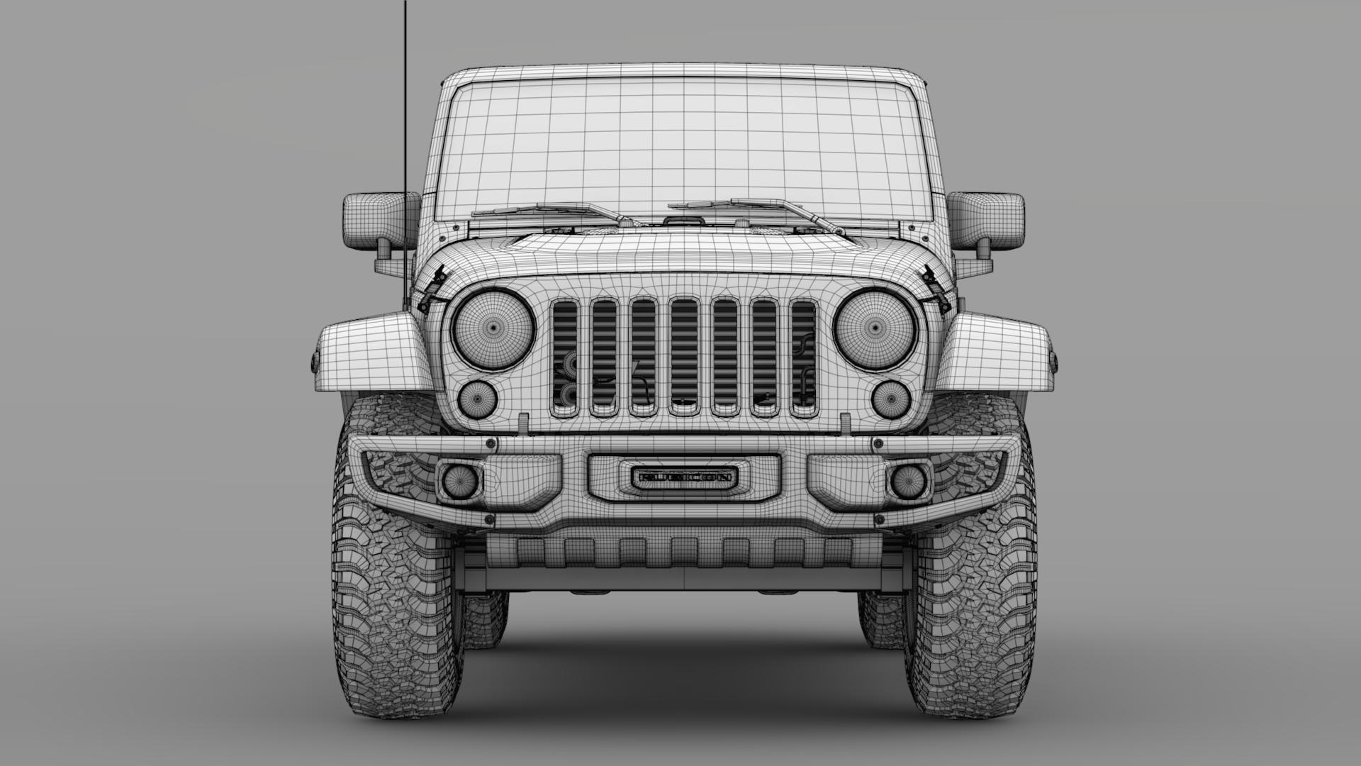 jeep wrangler rubicon recon jk 2017 3d model max fbx lwo ma mb hrc xsi obj 276952