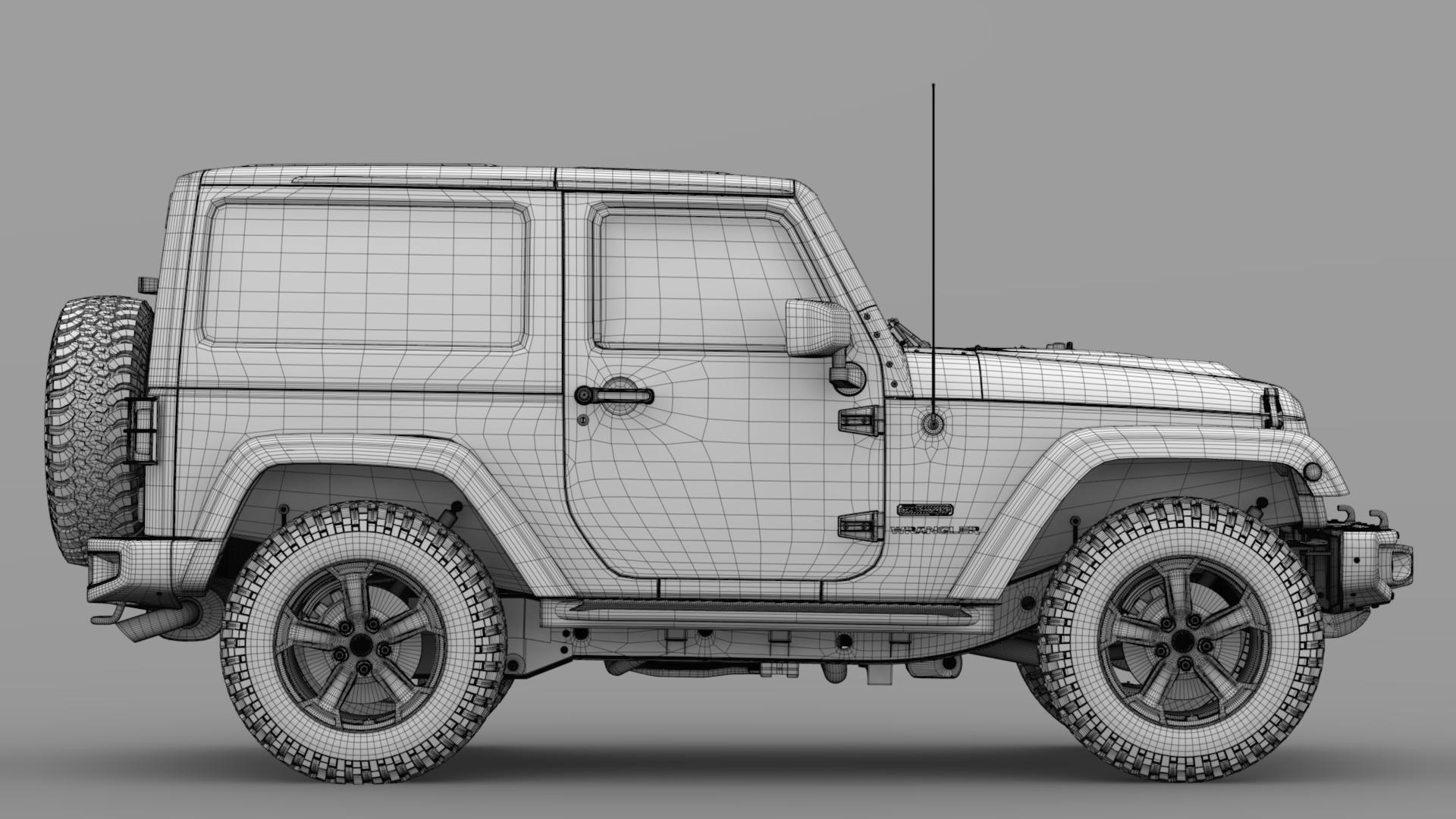 jeep wrangler rubicon recon jk 2017 3d model max fbx lwo ma mb hrc xsi obj 276953