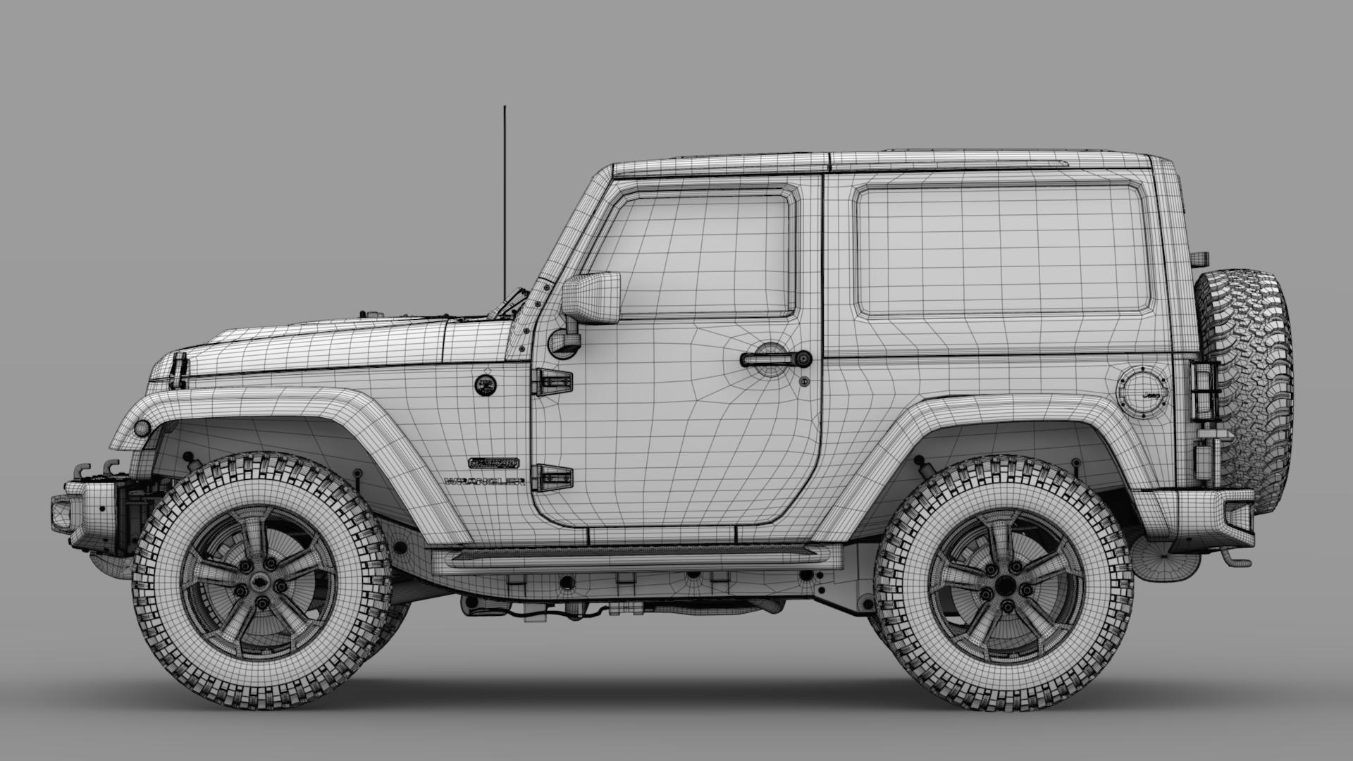 jeep wrangler rubicon recon jk 2017 3d model max fbx lwo ma mb hrc xsi obj 276955