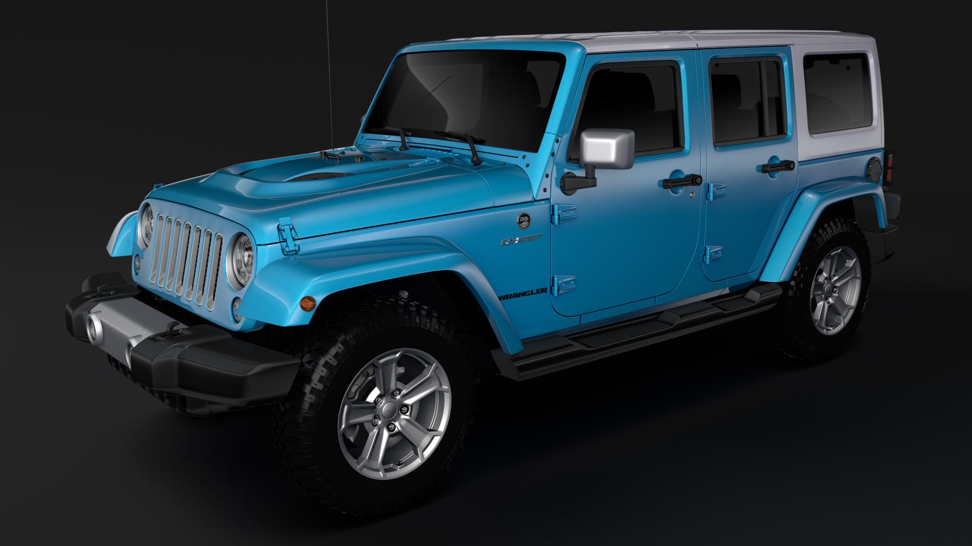 jeep wrangler unlimited chief jk 2017 3d model max fbx c4d lwo ma mb hrc xsi obj 276969
