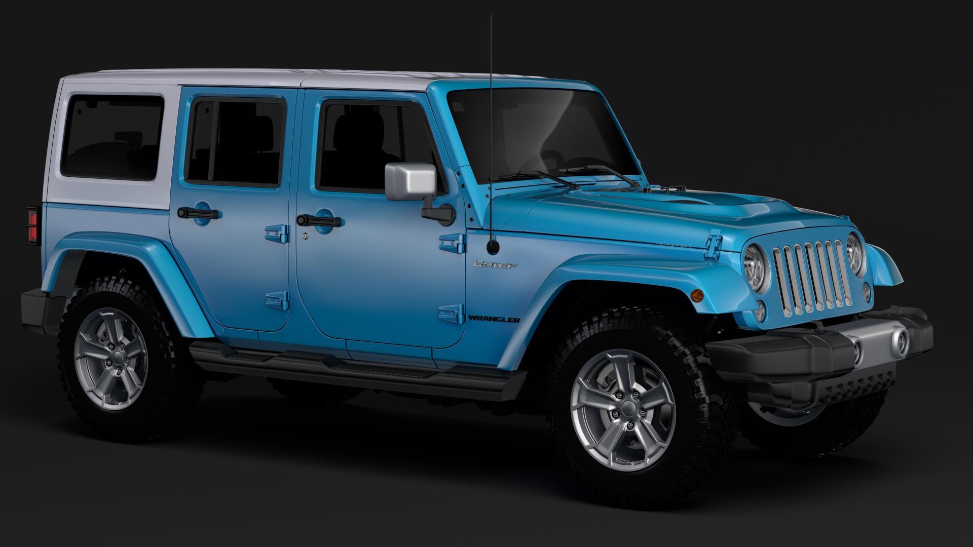 jeep wrangler unlimited chief jk 2017 3d model max fbx c4d lwo ma mb hrc xsi obj 276971