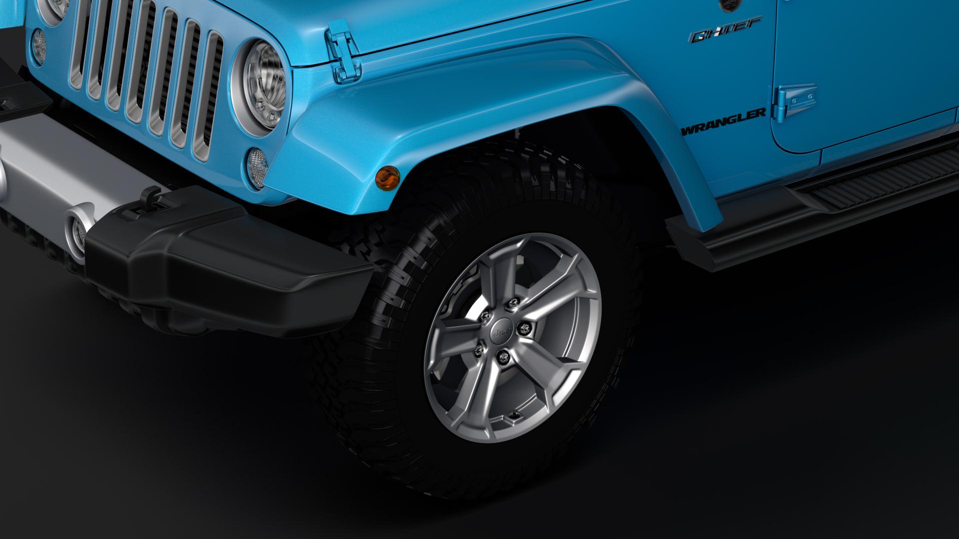 jeep wrangler unlimited chief jk 2017 3d model max fbx c4d lwo ma mb hrc xsi obj 276972