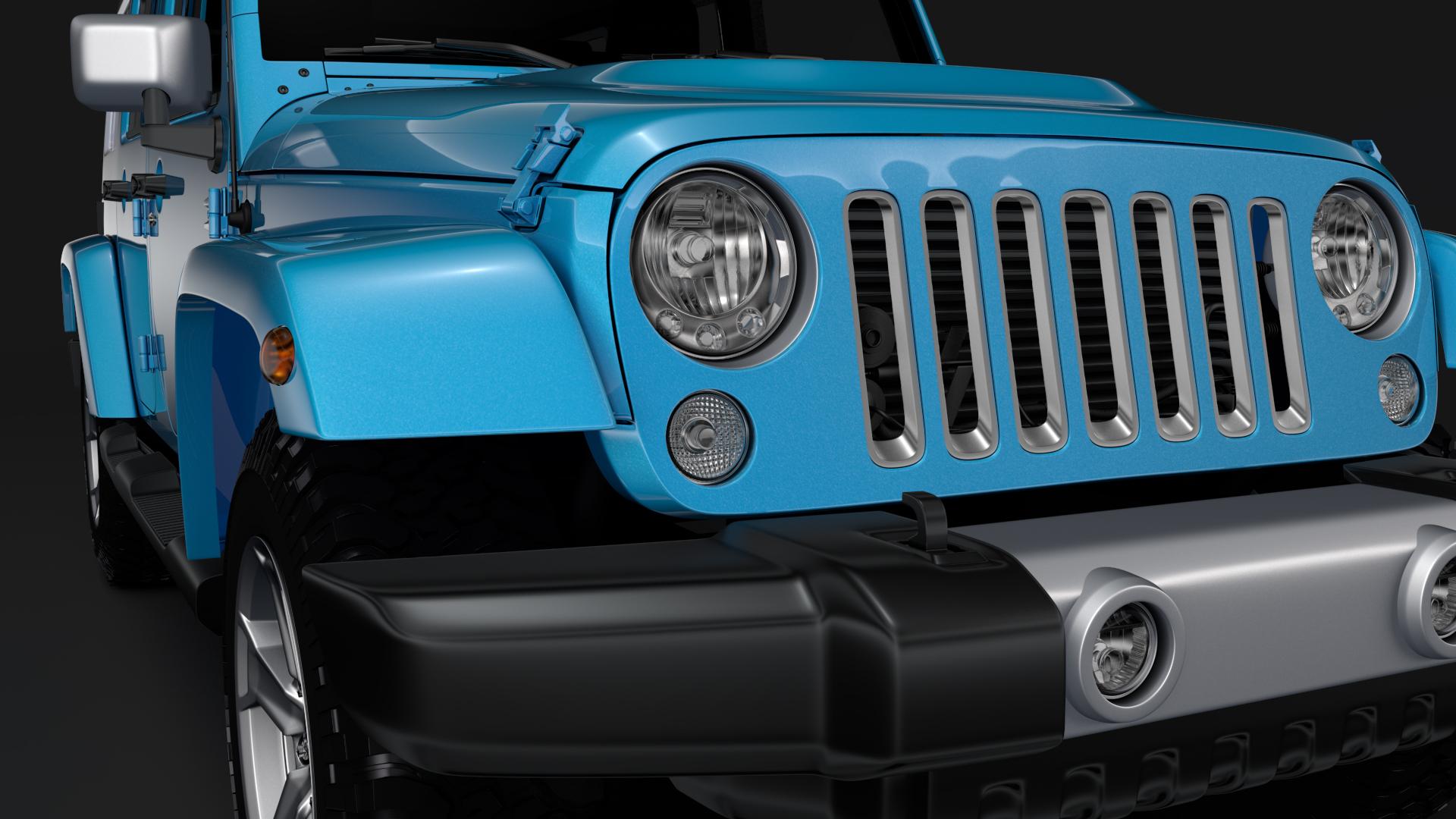 jeep wrangler unlimited chief jk 2017 3d model max fbx c4d lwo ma mb hrc xsi obj 276973